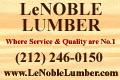 2017 - LeNoble Lumber Button Ad